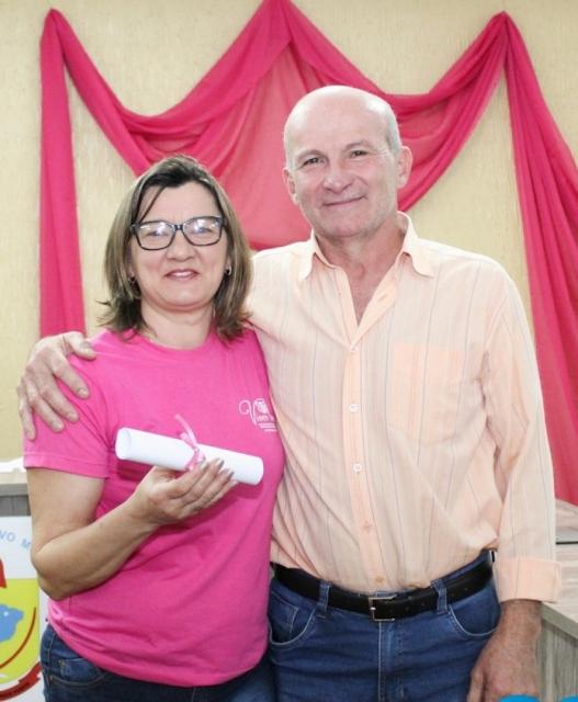 Vereador Clecio Marchioretto, com Associada Bernadete Luzzi