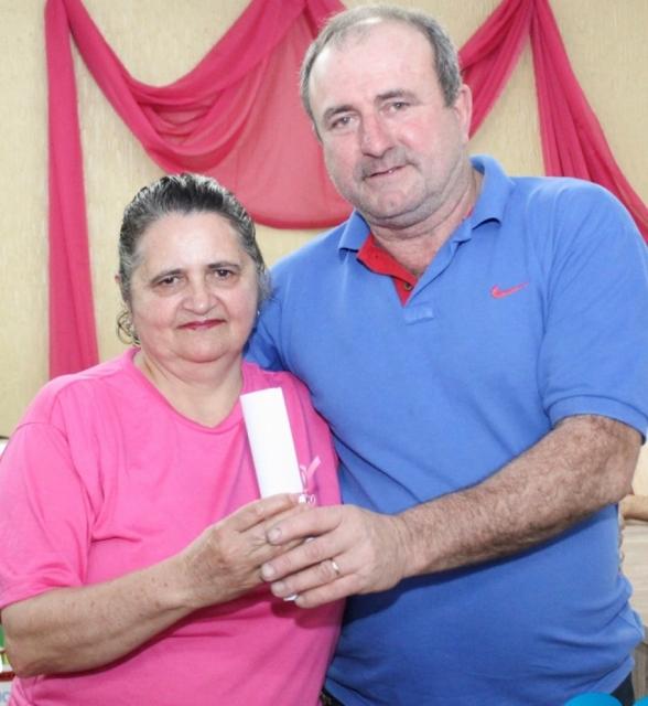 Vereador Nédio Mariotti, com Associada Iracema Giacobbo
