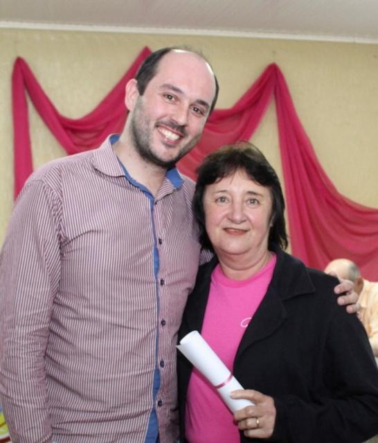 Vereador Tiago Bertotti , com Associada Vereadora Neiva Ana santin Vinciguerra