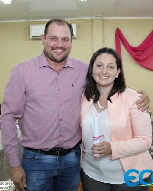 Vereador Rodrigo, com  Associada Presidente Veridiana Alba